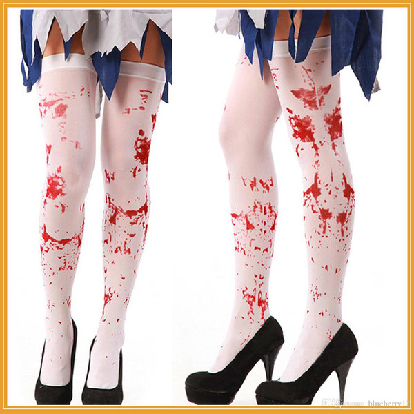 halloween party women scary bleed or skeleton occupational stockings tights cosplay female costumes hosiery, Silver