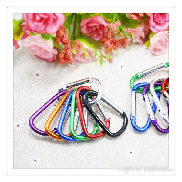 Wholesale Carabiner Ring Keyrings Outdoor Camp Snap Clip Hook Keychains Hiking Aluminum Metal Stainless Steel Camping Carabiners Climbing