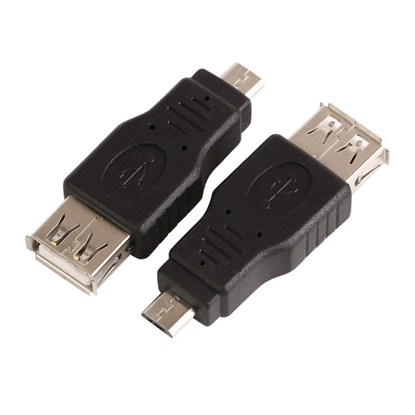 Wholesale 500pcs/lot USB 2.0 A Female to Micro USB B 5 Pin male F M Converter cable Adapter