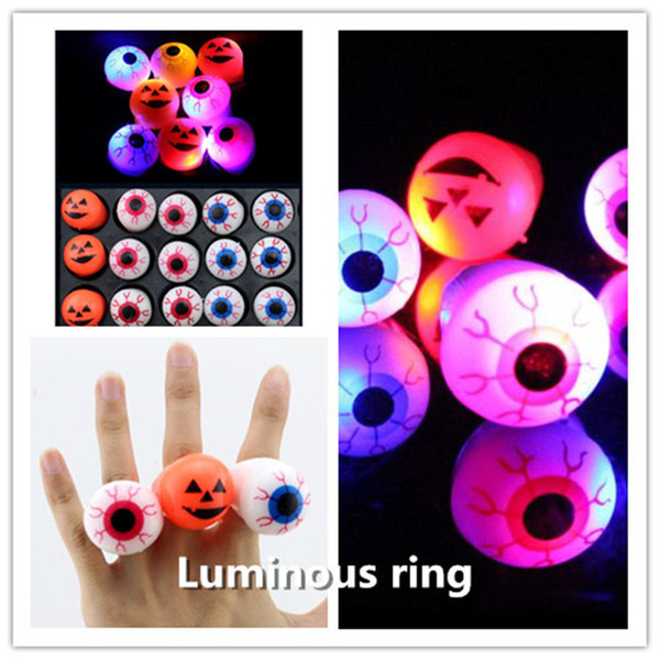 top popular Wholesale Halloween Toys Luminous Hand Ring Finger Ring Flashing Finger Light party decoration Children Halloween Gifts ouc2088 2021