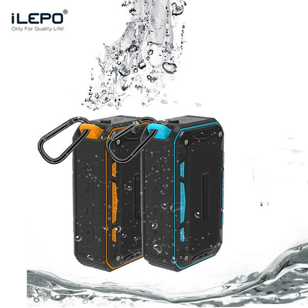 top popular IP65 Waterproof Wireless Bluetooth Speaker With 8W 2000mAh Subwoofer Mini Portable Player Support TF Card FM Radio Aux With Hook 2019