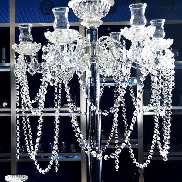 Clear Acrylic Crystal Garland Bead Chain Strands Wedding Centerpieces Manzanita Tree Hung Strands Strung Christmas Tree Decoration Supplies