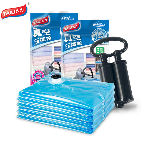 Wholesale- Hand Pump Vacuum Bag for Clothes Large Compressed Storage Bag Saving Space Seal Bags Wardrobe Closet Home for Organizer