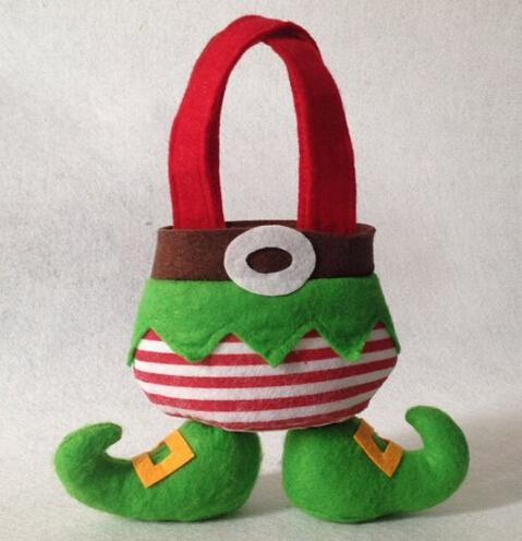Christmas Elf Socks Gift Bags Holiday Secret Santa Candy Bags Stocking Filler Practical Home for Christmas Elf Foot Gift Bag Xmas Christmas