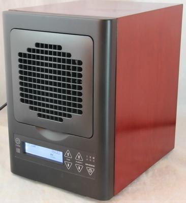 Casa purificatore d'aria 360mg purificatore di ozono filtro HEPA filtro a carbone TiO2 filtro UV lampadina piastre di ozono legno canibet (HE-250)