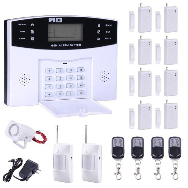 Safearmed TM SF-9908LCD 2016 New Home Alarm System GSM SMS Burglar Security Alarm System Wireless LCD Screen Detector Sensor Kit