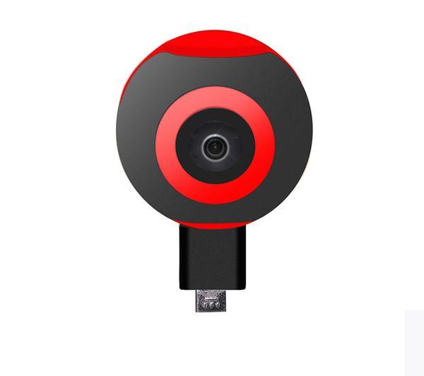 Mini 360 Grados Panorama VR Cámara HD Sport DV 720 ° Dual Fish Eye Lens Para Type-c Micro usb Android Smartphone Pano S1 1PC / LOT