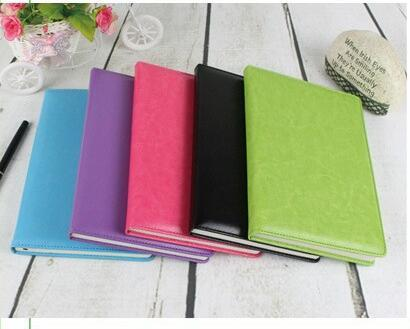 A5 Classic Notebook, PU Leather Hard Cover Diary Business Notepad, 100 Sheets note book (5 Color)