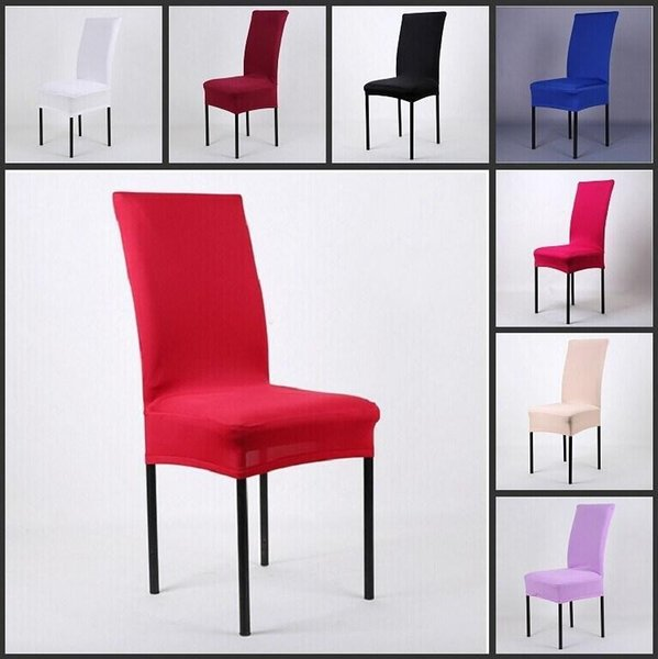 Universal High Stretch Spandex Chair Cover Lycra for Wedding Banquet Hotel Bar Home and Party Supplies 11 Color Available free shipping