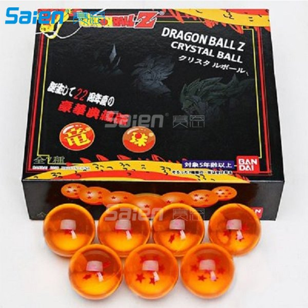 top popular 7 PCS JP Anime DragonBall Z Stars Crystal Ball Set in Box Package Anime Collection Diameter 4.5cm High quality PVC 2020
