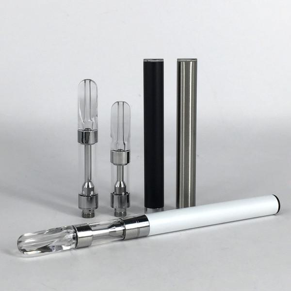 Date en céramique bobine réservoir 1 ml. 5 ml vape stylo kit verre épais vaporisateur de pétrole mise à jour M6T vape cartouche 350 mah Kitless batterie automatique kits