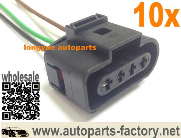 Longyue 20 unids Kit de reparación del conector de la bobina de encendido para A4 A6 VW Arnés Enchufe Cableado NUEVO cable de 15 cm
