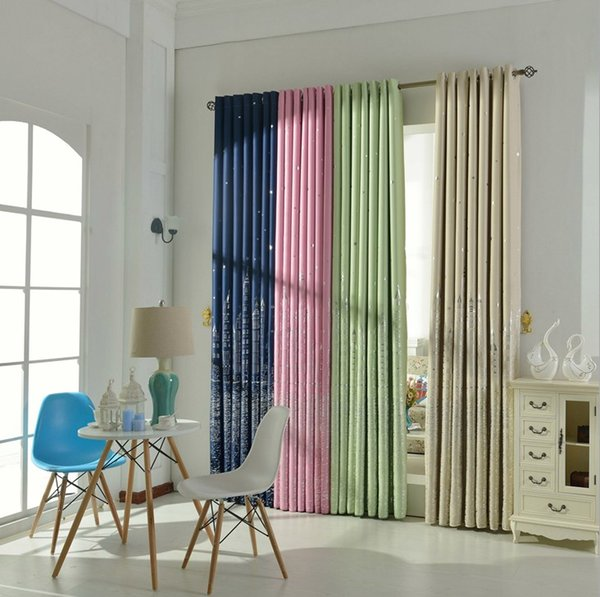2016 Thick Blackout Curtains Sheers Boys Girls Bedroom Curtains ...