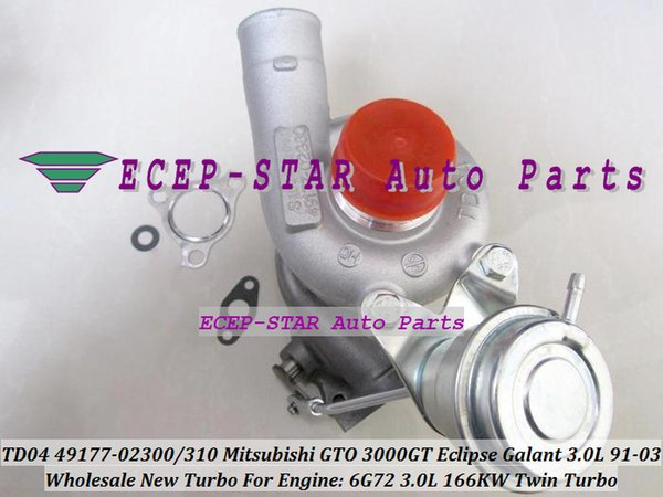 TWin Turbo 2 pz TD04 49177-02300 49177-02400 Turbocompressore per MITSUBISHI GTO 3000GT Eclipse Galant Dodge Stealth 1991-03 6G72 V6 3.0L 166KW