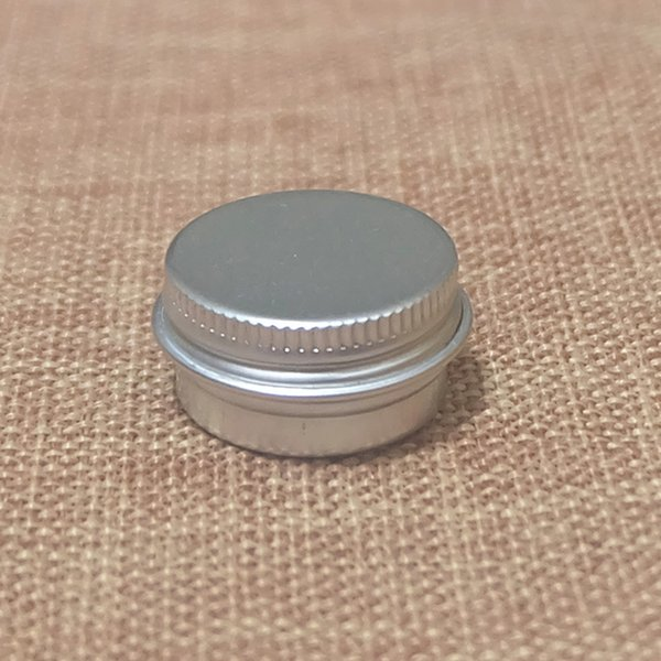 Wholesale- 5g Aluminum Jars Small Cosmetic Cream Sample Packaging Container Empty Lip Blam Storage Bottles