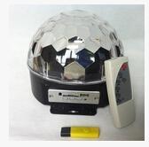 Bluetooth MP3 magic crystal ball KTV disco disco colorful laser stage lighting voice LED magic ball