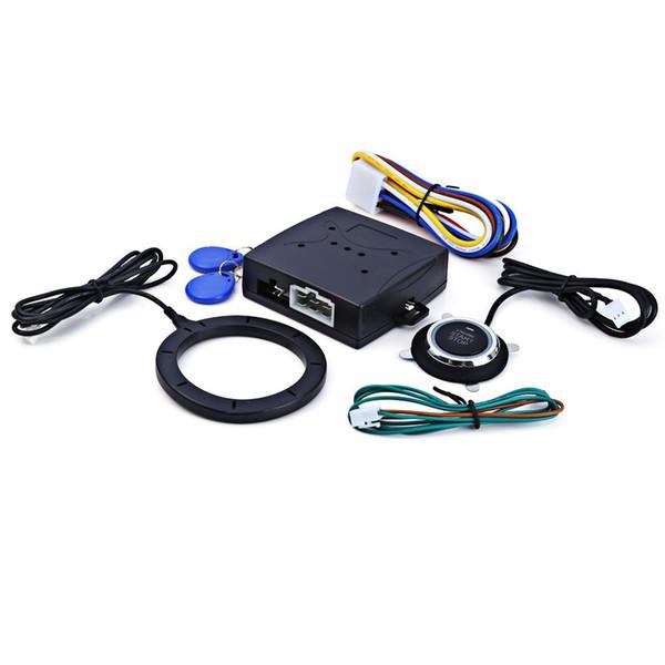Nuevo Motor de Coche Botón de Arranque Empujado RFID Cerradura Encendido Arranque Sin Entrada Entrada Parada Parada Inmovilizador Sistemas de Alarma Seguridad de Manejo