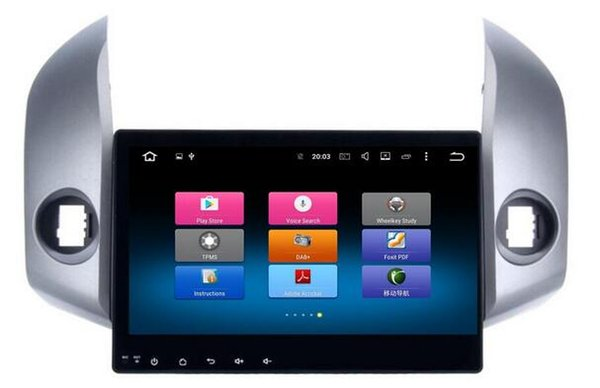 8-Core Android 6.0 8inch Car Dvd Gps Navi Audio para Toyota RAV4 2009-2012 volante DBA + 1024 * 600,2GBRAM 32GB
