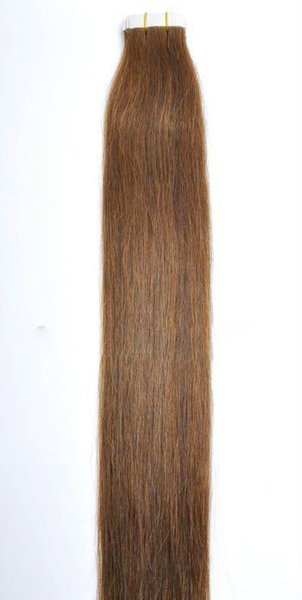 "7A Wholesale - 14"" - 24"" 100% Human PU EMY Tape Skin Hair Extensions 2.5g/pcs 40pcs&100g/set color #6 light brown DHL FREE"