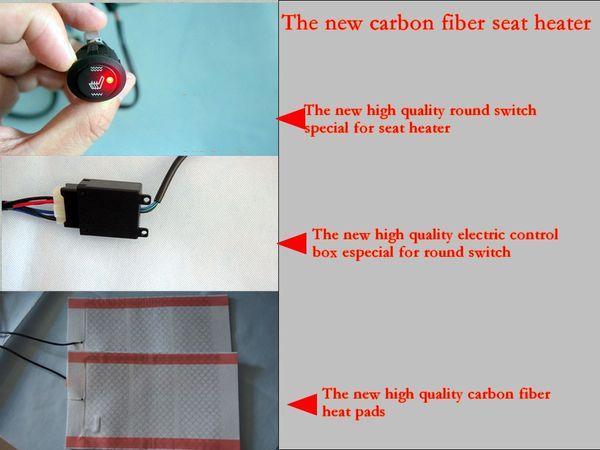 Round Carbon Fiber Car Seat Heater Kits, Car Seat Heating Pads ...