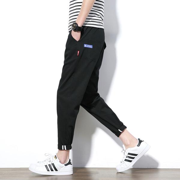 Venta al por mayor- 2017 estilo del verano pantalones casuales hombres de color caqui verde del ejército tobillo hombres pantalones coreano Slim Fit algodón pantalones masculinos más el tamaño 5XL