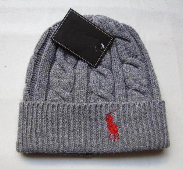 wholesale Fashion Unisex Spring Winter Hats for Men women Knitted Beanie Wool Hat Man Knit Bonnet Polo Beanie Gorros touca Thicken Warm Cap
