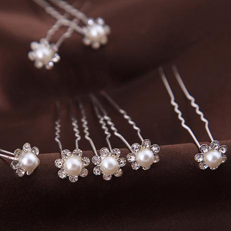 best selling 2019 hot Hairpins Wonderful free Shipping High Quality Cheap Beautiful Pearl Wedding Bridal Flora Tiaras Hair Accessory Headpiece