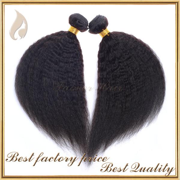 2016 hot sell kinky straight hair weave coarse yaki italian yaki hair extension natural color chinese virgin human hair weft free shipping