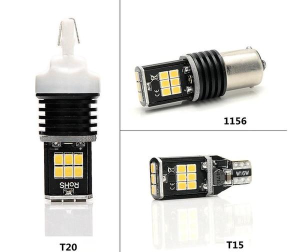 2x High Power White Canbus Led Bulb T15/T20/1156 15 LED Canbus Car Auto Bulb 3030 SMD Light Lamp Reverse Backup Lights