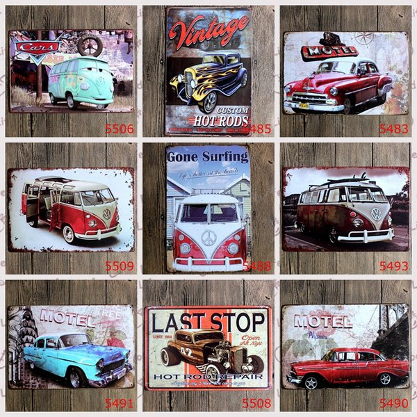 2015 fashion 20*30cm retro vintage classic auto car Tin Sign Coffee Shop Bar Restaurant Wall Art decoration Bar Metal Paintings