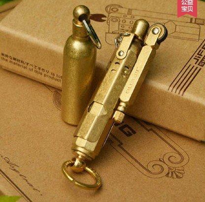 WW1 Replica Brass Trench Lighter Vintage Brass Copper German's Old Cigarette Lighter Windproof