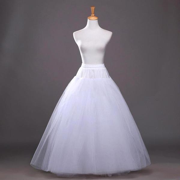 2018 Hot Summer A Line Enaguas blancas de la boda Under dress Bridal Slip para vestidos de novia Enagua Nupcial CPA212