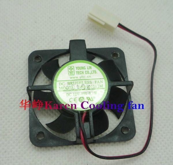 YOUNG LIN DFB401012M 40 * 10MM 12V 0.7W 2wire 3wire ventilador de bola doble