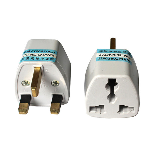 top popular EU US to UK travel plug convertor Universal Travel Power Adapter Plug AC for UK 2020