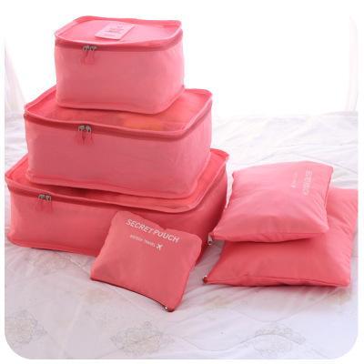 Nuovo 6pcs / set borsa da viaggio uomini borsa da viaggio impermeabile ad alta capacità bagaglio vestiti riordino custodia portatile organizzatore caso