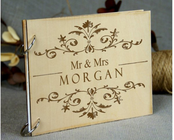 personalized wedding guest book rustic wedding guestbook albumcustom wood engagement anniversary gift