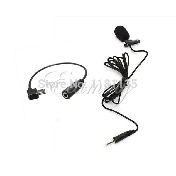 New 3.5mm Active Clip Mini Mic & Adapter USB Cable for GoPro Sports Camera Hero 3 3+ Free Shipping