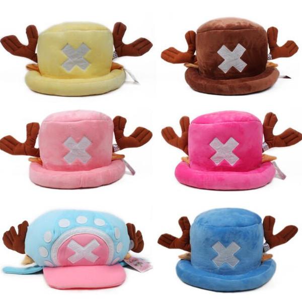 1 Pçs / set Kawaii Anime One Piece brinquedos de pelúcia cosplay Tony Chopper chapéu de algodão de pelúcia chapéu do inverno quente dos desenhos animados cap para crianças presente