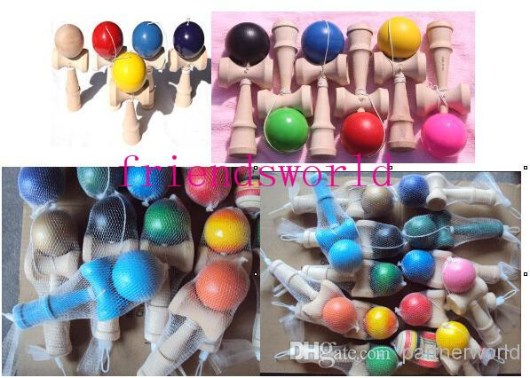 15 Colors 19CM Kendama Ball Japanese Traditional Wood Game Toy Education Gifts Hot Sale 200PCS/lot
