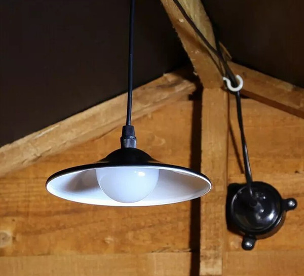 Solar Powered Pendant Lights LED Solar Shed Light Outdoor Garden Patio Light Solar Barn Light Remote Control Hanging Lamp for Indoor Outdoor