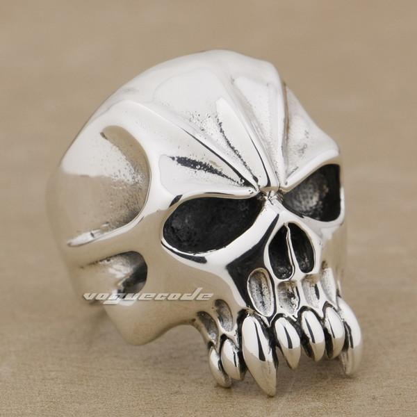 925 Sterling Silver Huge & Heavy Skull Mens Biker Ring 9M004 US Size 8~14 Free Shipping