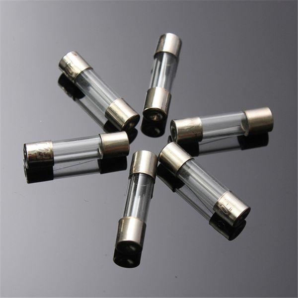 100Pcs 5x20mm Fusible Eléctrico Amp Fast-blow Glass Fuse Box / Tubo de vidrio auto fusible