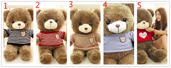 1PCS EMS giant teddy bears 1.8M - 1.2M Giant Big Plush Teddy Bear Valentines Day Brown Huge Teddy Bear