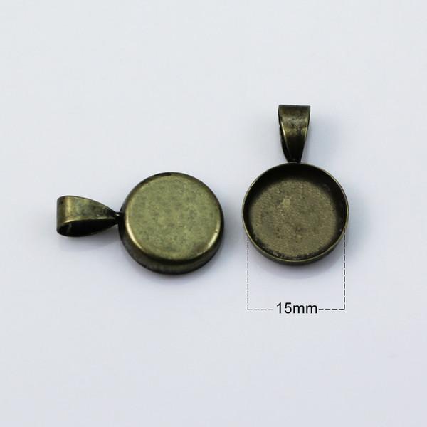 15mm antique brass