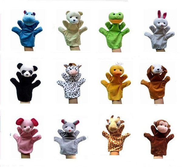 Big Animal hand Glove Puppet Hand Dolls Plush Toy Baby Child Zoo Farm Animal Hand Glove Puppet Finger Sack Plush Toy
