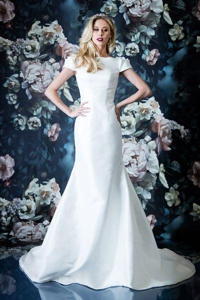 Großhandel Einfache Vintage Taft Meerjungfrau Bescheiden Brautkleid ...