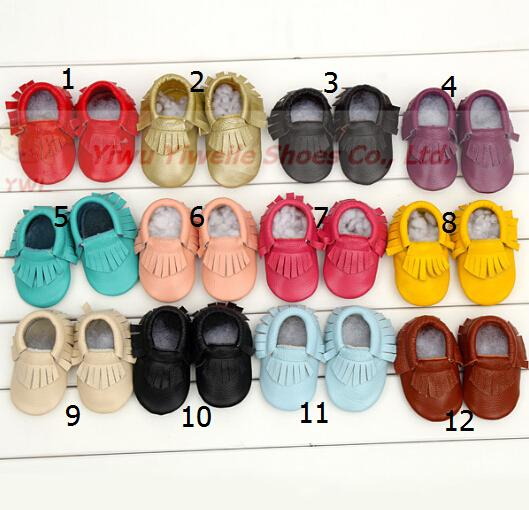 Großhandel Baby Mokassins Baby Moccs Mädchen Bogen Moccs 100% Top Layer weiches Leder Moccs Baby Booties Kleinkind Schuhe