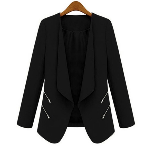 Best Price Trendy Women Ladies OL Blazer Casual Suit Business Outerwear Long SleveeCoat