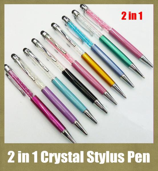 Stylus Stift 2 in 1 zum Schreiben und Berühren von langen Diamanten kapazitiven Stift 14,5 cm 12,5 cm Arbeit mit iPad iPhone S5 Note3 HTC LG Blackberry STY007