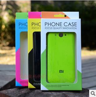 Dual color universal pacote de varejo de papel de plástico caixa de embalagem para o telefone case iphone 7 5s 6 6 s plus samsung s8 mais s7 borda
